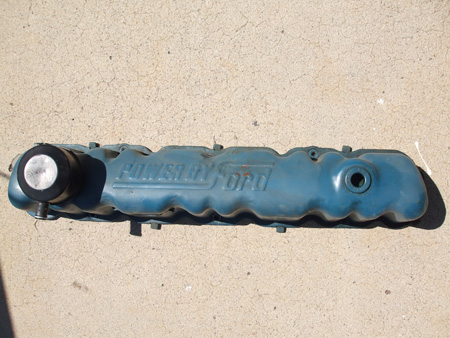 Old engine valve cover.
