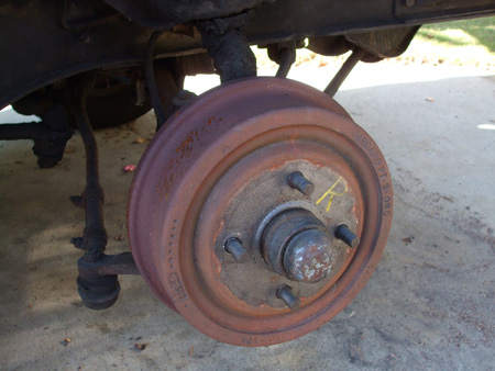 Old Right Front Brake Drum